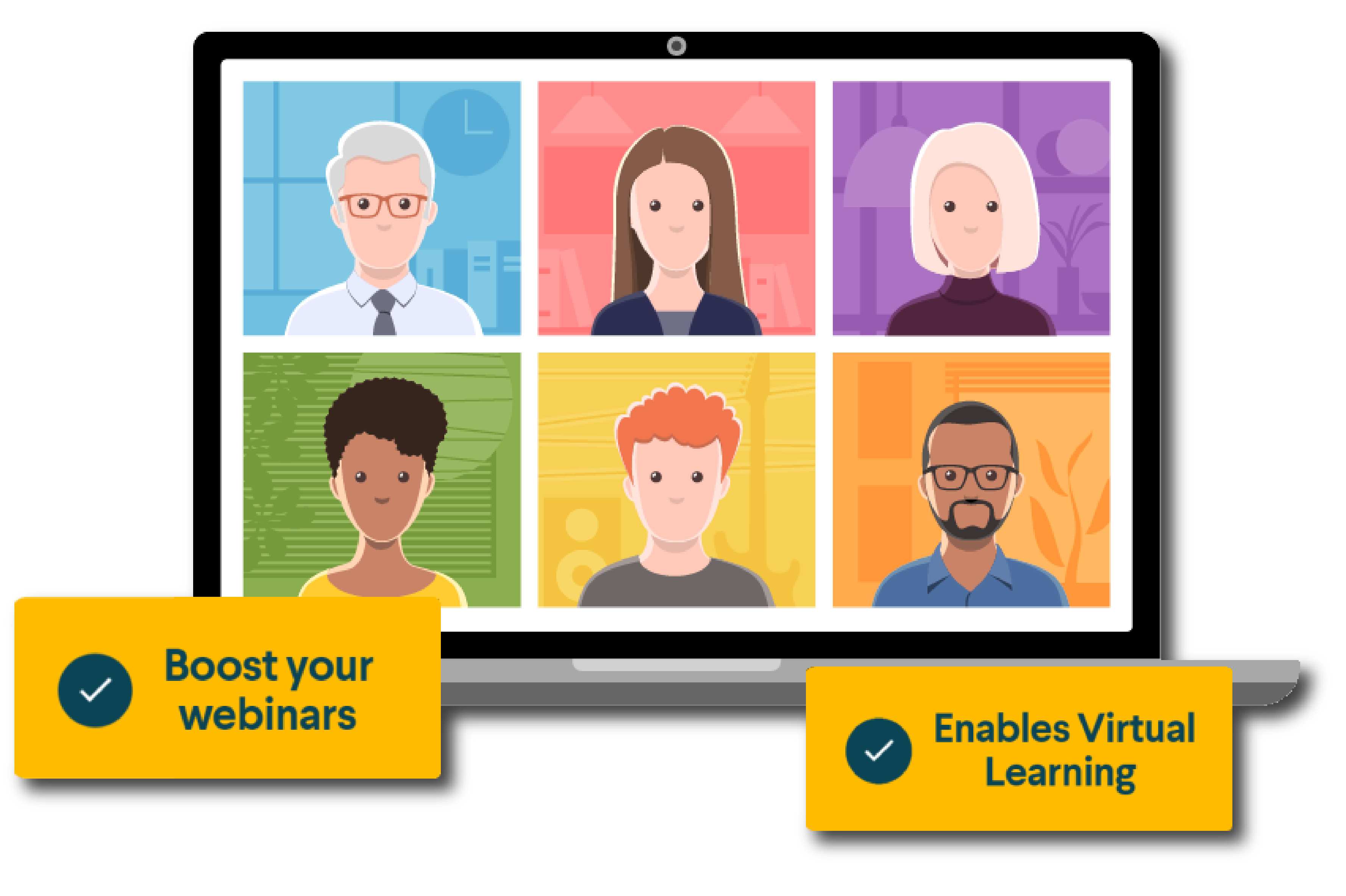 Boost your Webinars. Enables Virtual Learning