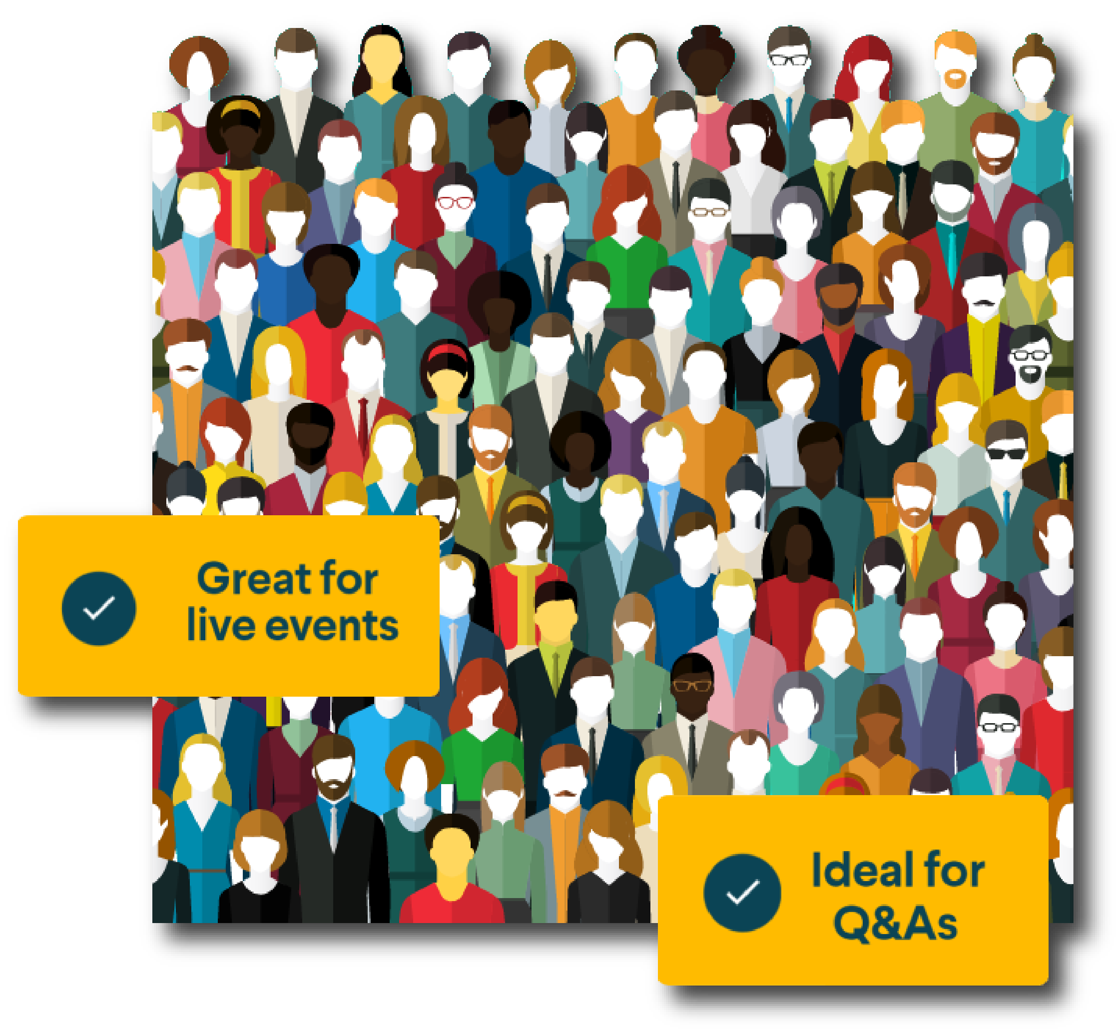 Great for Live Events. Ideal for Q&As